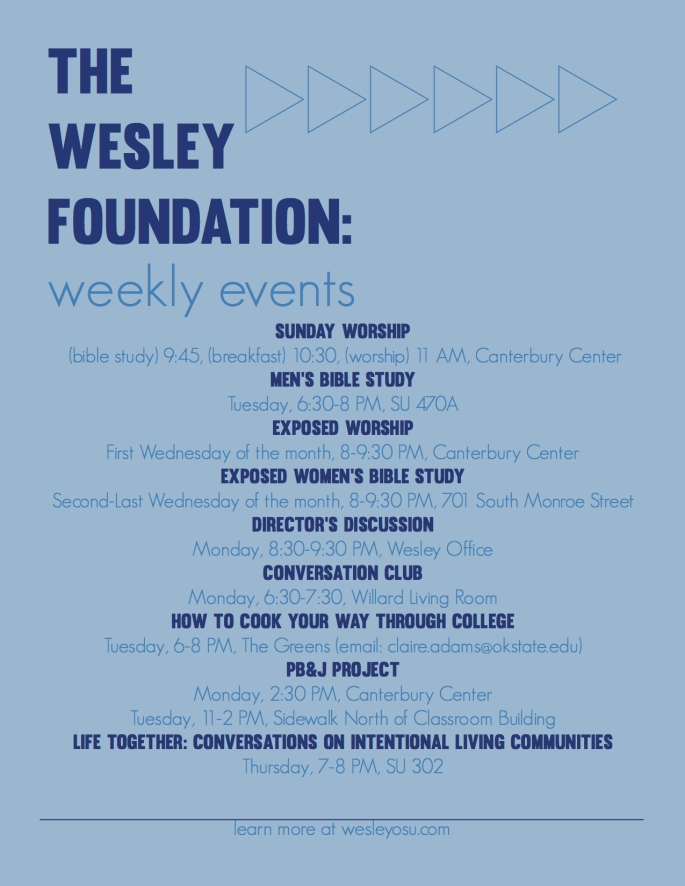 Wesley Events 2017 Flyers